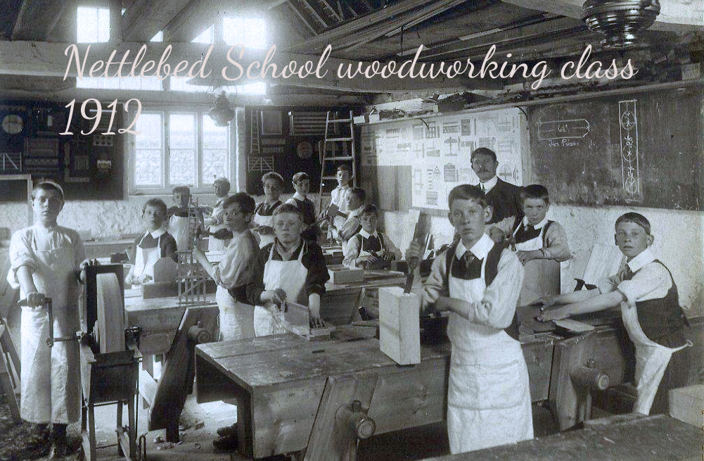 scanNettlebed School 1912 Carpentry Class copy
